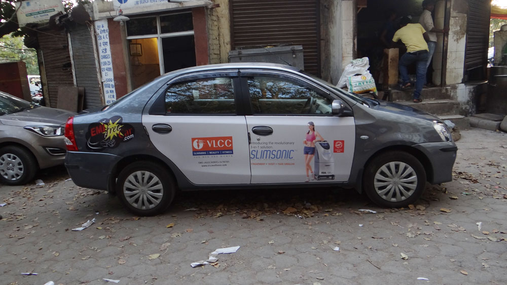 VLCC Advertising on Car