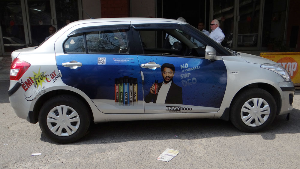 envy Advertising on Car